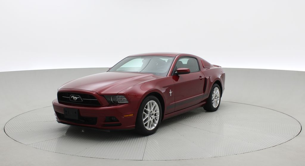 Red[Ruby Red Tinted Clearcoat] 2014 Ford Mustang V6 - Automatic, SUPER LOW KMs, Ruby Red Tinted Left Front Corner Photo in Winnipeg MB