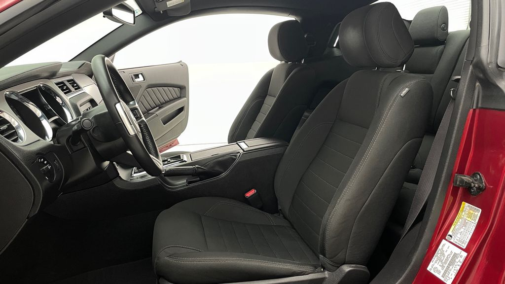 Red[Ruby Red Tinted Clearcoat] 2014 Ford Mustang V6 - Automatic, SUPER LOW KMs, Ruby Red Tinted Left Front Interior Photo in Winnipeg MB