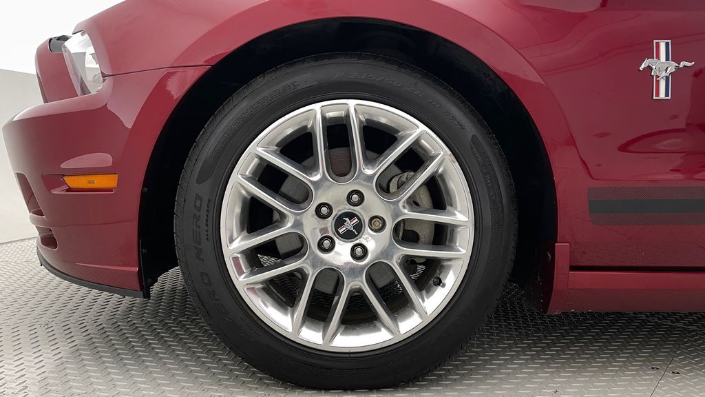 Red[Ruby Red Tinted Clearcoat] 2014 Ford Mustang V6 - Automatic, SUPER LOW KMs, Ruby Red Tinted Left Front Rim and Tire Photo in Winnipeg MB