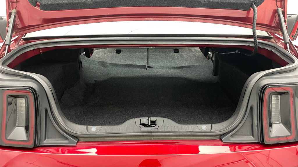 Red[Ruby Red Tinted Clearcoat] 2014 Ford Mustang V6 - Automatic, SUPER LOW KMs, Ruby Red Tinted Rear Seat: Cargo/Storage Photo in Winnipeg MB