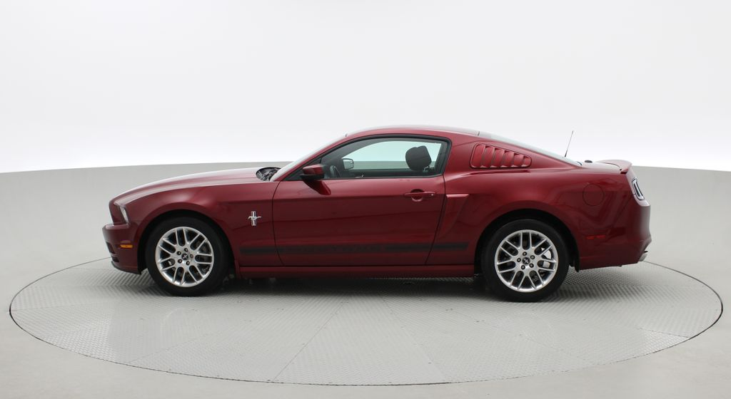 Red[Ruby Red Tinted Clearcoat] 2014 Ford Mustang V6 - Automatic, SUPER LOW KMs, Ruby Red Tinted Left Side Photo in Winnipeg MB