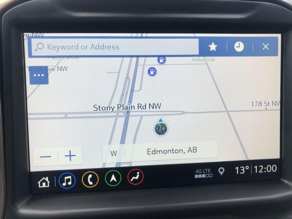 Black[Black] 2019 Chevrolet Silverado 1500 Navigation Screen Closeup Photo in Edmonton AB