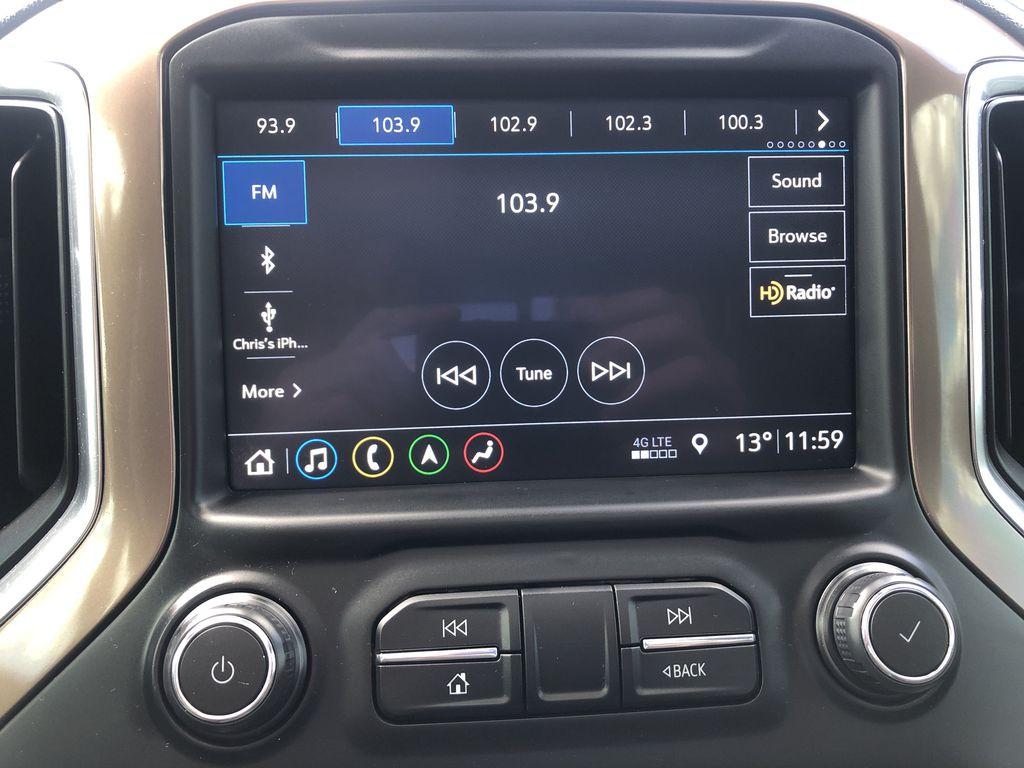 Black[Black] 2019 Chevrolet Silverado 1500 Radio Controls Closeup Photo in Edmonton AB