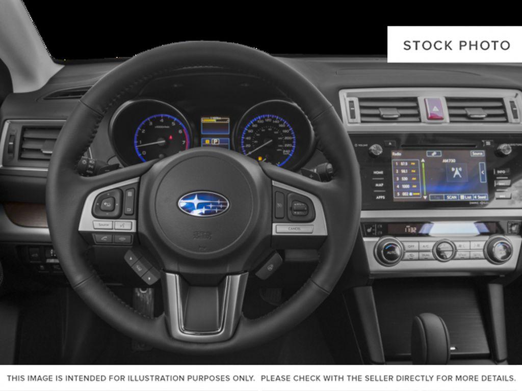 Blue[Lapis Blue Pearl] 2017 Subaru Outback Steering Wheel and Dash Photo in Lethbridge AB