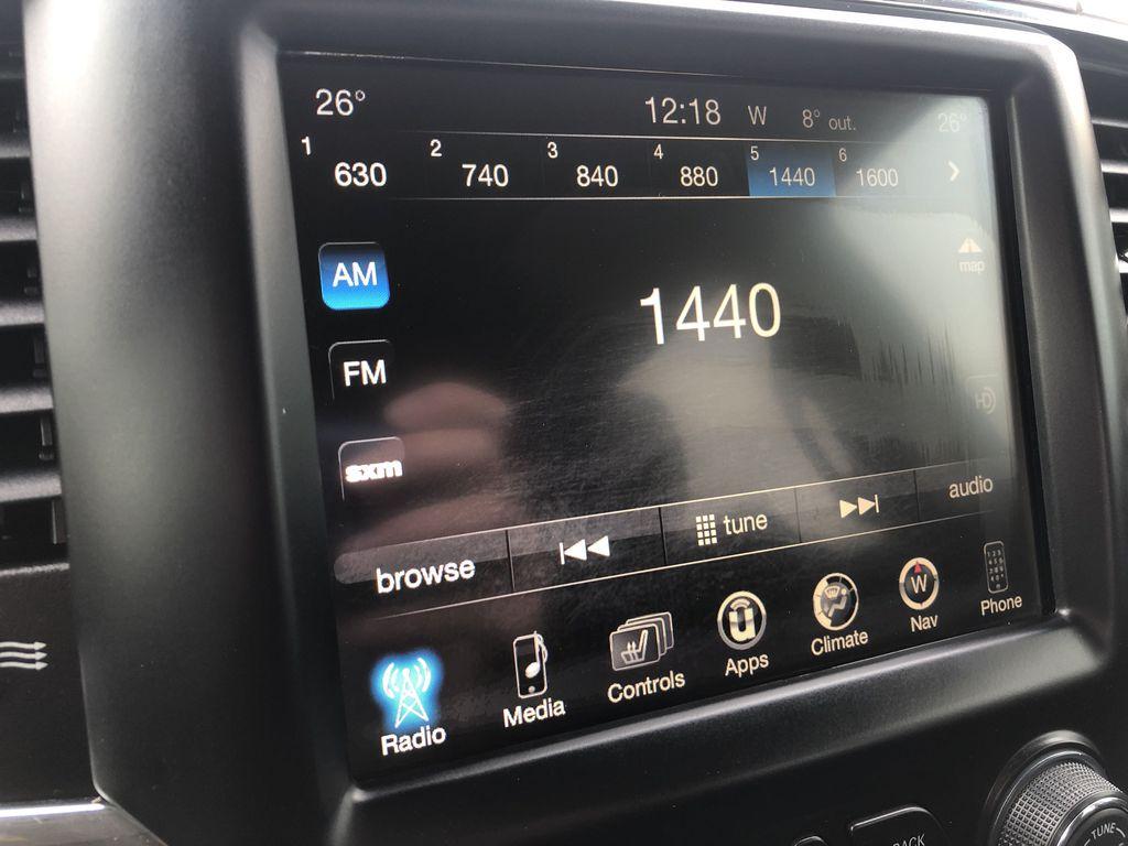Black[Brilliant Black Crystal Pearl] 2017 Ram 2500 Radio Controls Closeup Photo in Edmonton AB