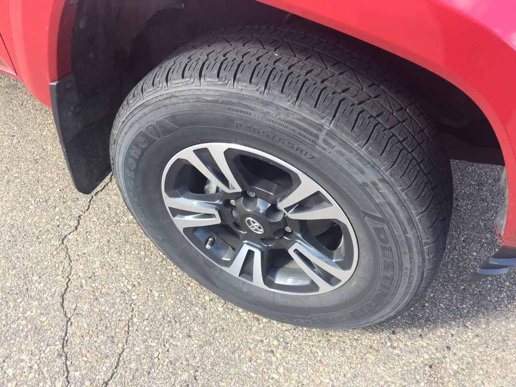 RED 2019 Toyota Tacoma DOUBLE CAB TRD SPORT 4X4 Right Rear Corner Photo in Sherwood Park AB