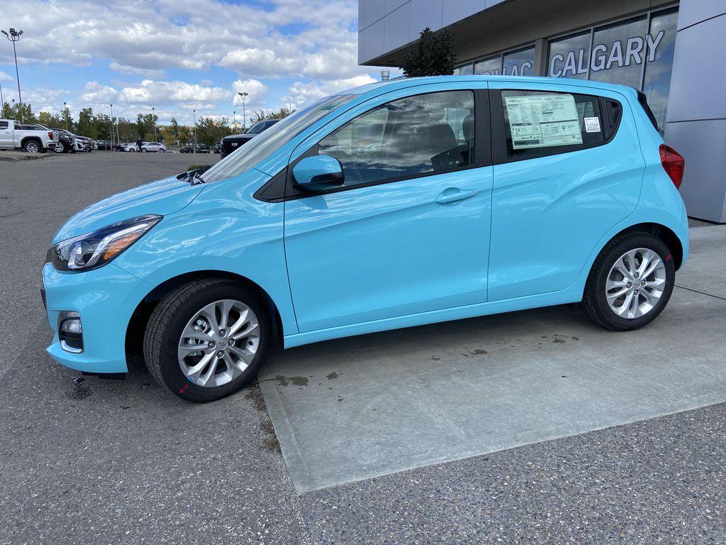 Blue[Mystic Blue] 2022 Chevrolet Spark LT Left Front Corner Photo in Calgary AB