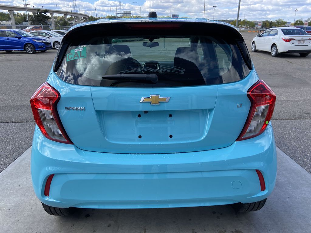 Blue[Mystic Blue] 2022 Chevrolet Spark LT Rear of Vehicle Photo in Calgary AB