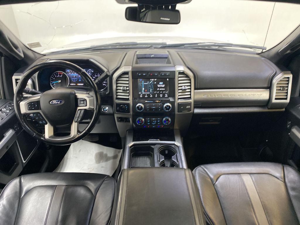 WHITE 2019 Ford Super Duty F-350 SRW Platinum - 360º Camera, Massage Seats, 5th Wheel Hitch Strng Wheel/Dash Photo: Frm Rear in Edmonton AB