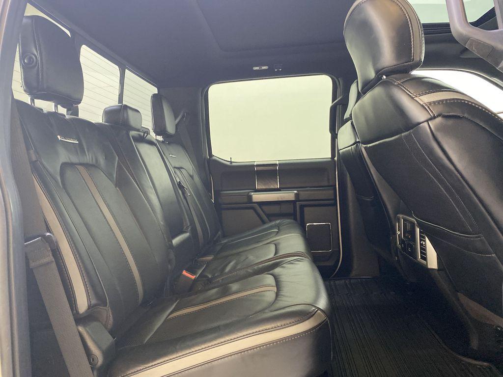 WHITE 2019 Ford Super Duty F-350 SRW Platinum - 360º Camera, Massage Seats, 5th Wheel Hitch Right Side Rear Seat  Photo in Edmonton AB