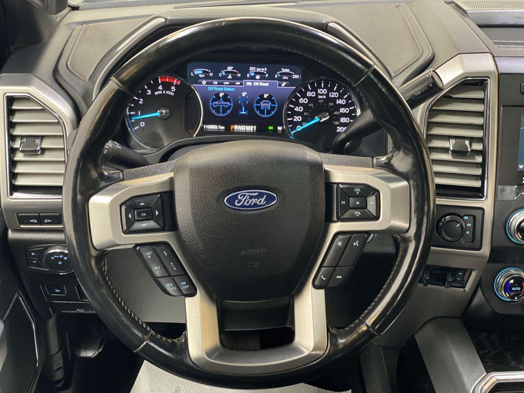 WHITE 2019 Ford Super Duty F-350 SRW Platinum - 360º Camera, Massage Seats, 5th Wheel Hitch Strng Wheel: Frm Rear in Edmonton AB