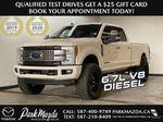 WHITE 2019 Ford Super Duty F-350 SRW Platinum - 360º Camera, Massage Seats, 5th Wheel Hitch Primary Photo in Edmonton AB