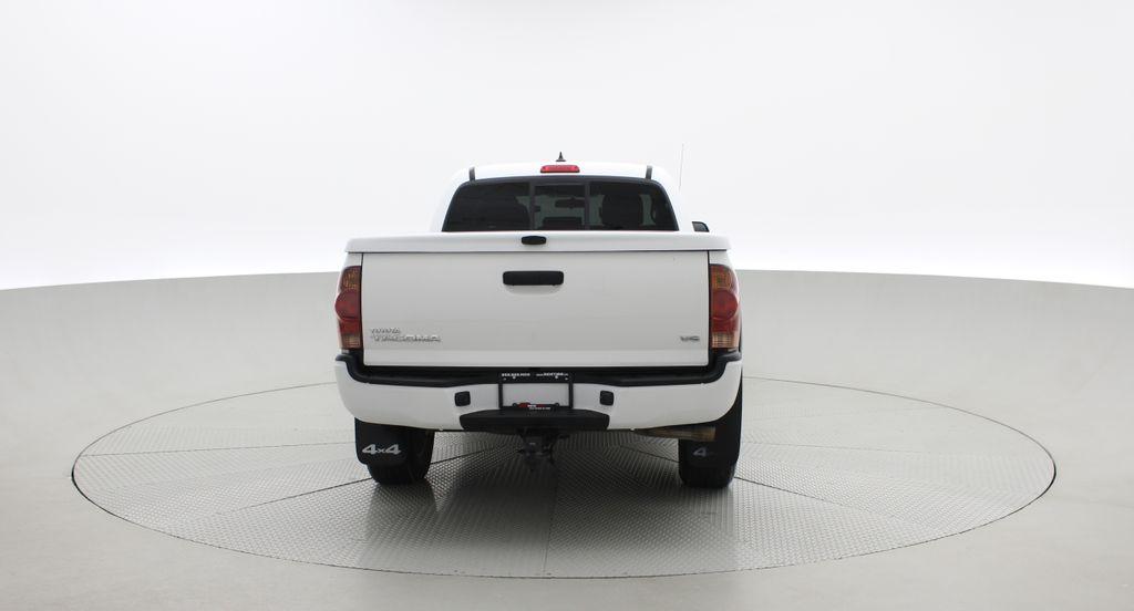 White[Alpine White] 2012 Toyota Tacoma Base 4WD - Double Cab, 4.0L V6, Fiberglass Tonneau Rear of Vehicle Photo in Winnipeg MB