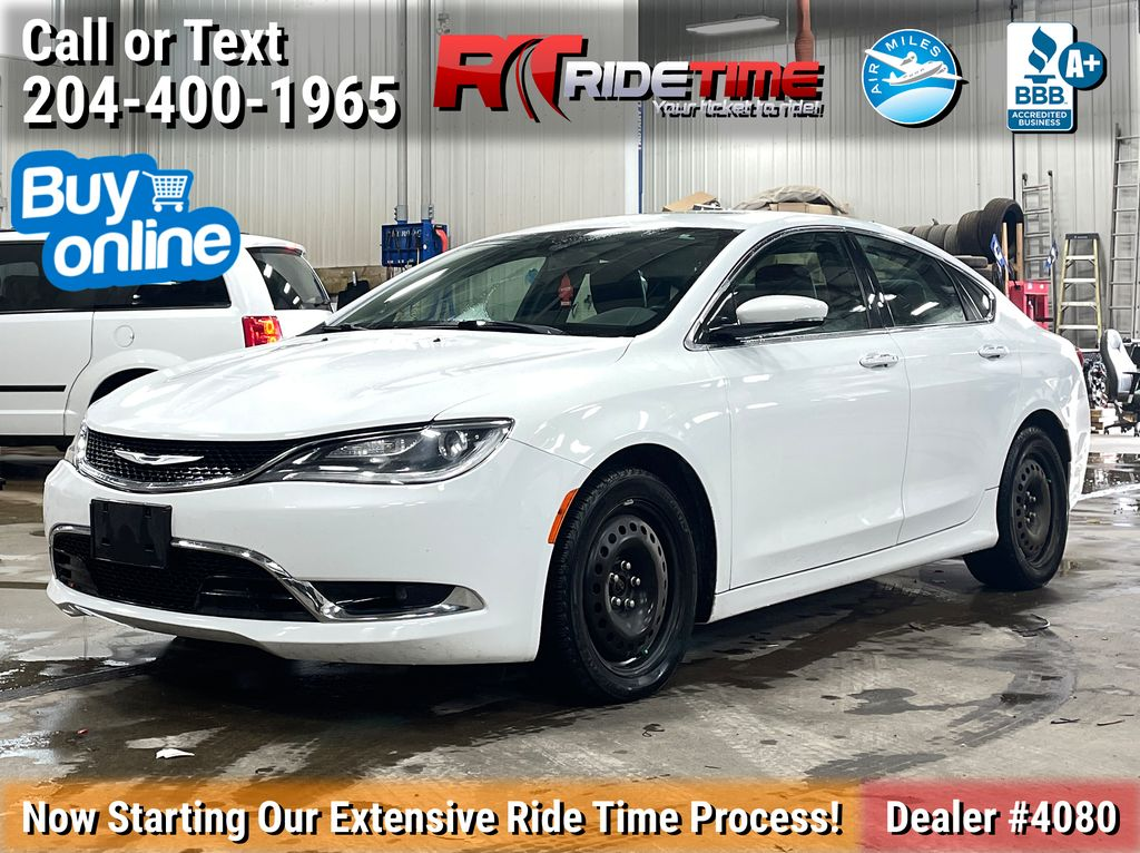 White[Bright White] 2015 Chrysler 200 C - Leather, Panoramic Roof, 8.4in Uconnect