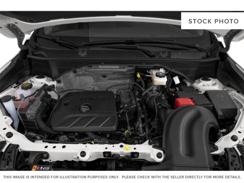 White[White Frost Tricoat] 2022 Buick Encore GX Engine Compartment Photo in Edmonton AB