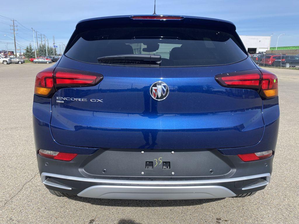 Blue[Sapphire Metallic] 2022 Buick Encore GX Rear of Vehicle Photo in Edmonton AB