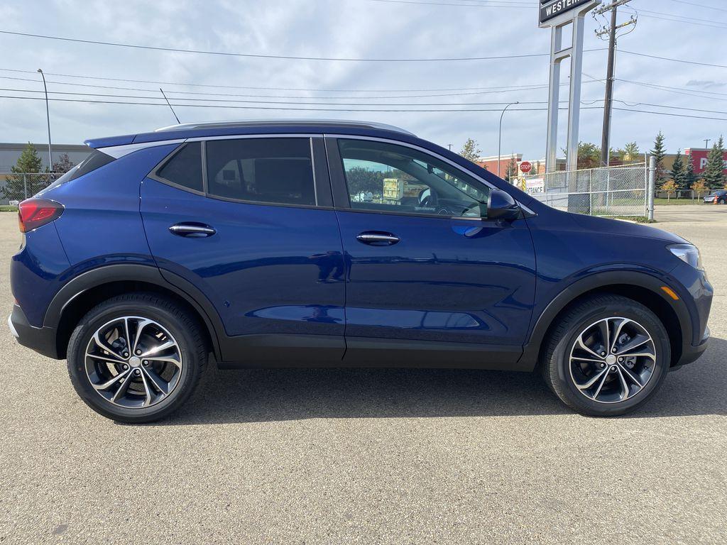 Blue[Sapphire Metallic] 2022 Buick Encore GX Right Side Photo in Edmonton AB