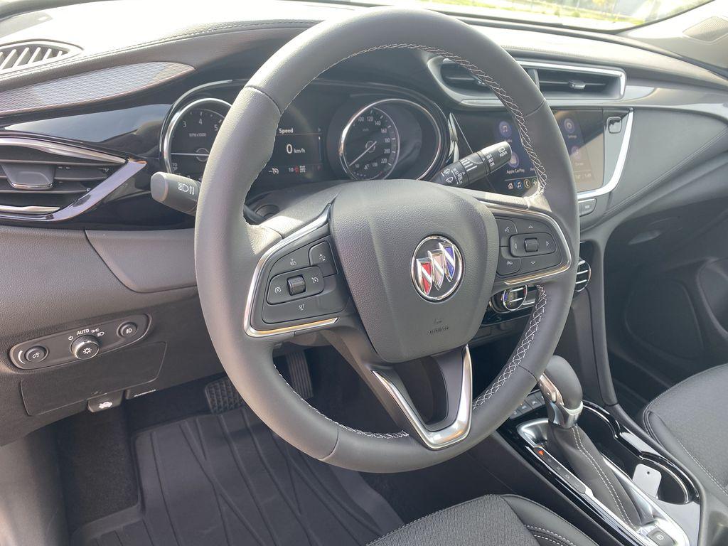Blue[Sapphire Metallic] 2022 Buick Encore GX Steering Wheel and Dash Photo in Edmonton AB
