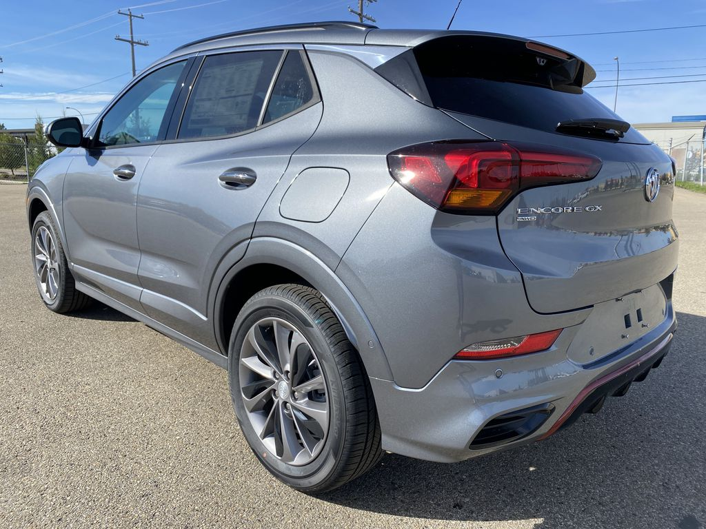 Gray[Satin Steel Metallic] 2022 Buick Encore GX Left Rear Corner Photo in Edmonton AB