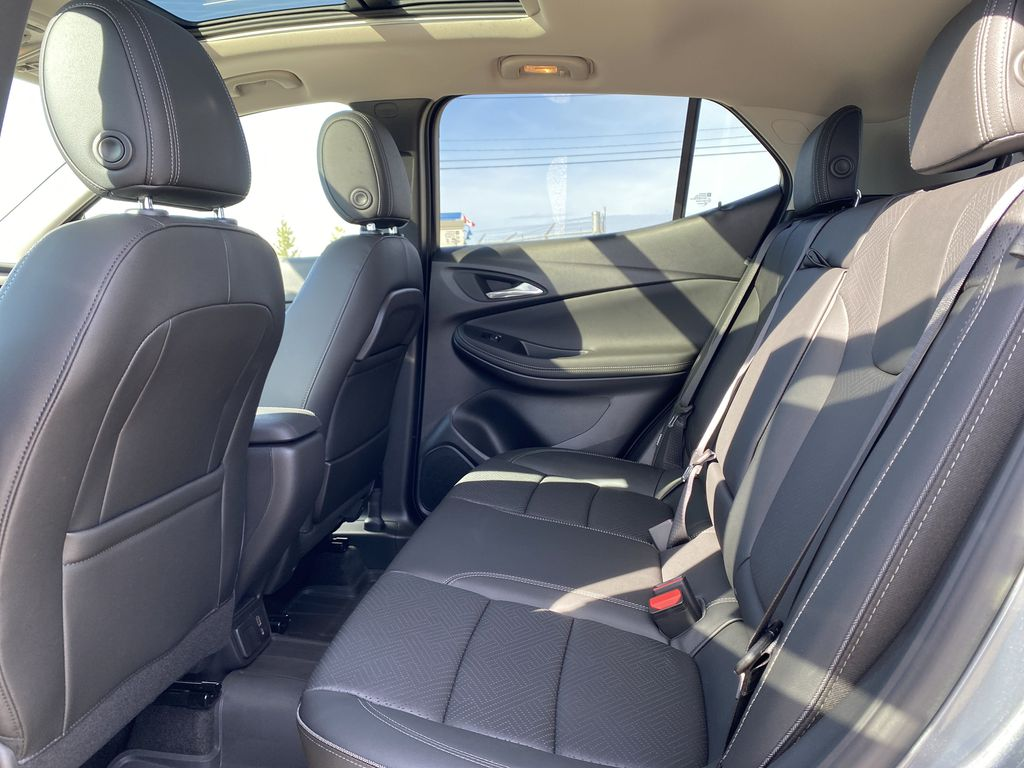 Gray[Satin Steel Metallic] 2022 Buick Encore GX Left Side Rear Seat  Photo in Edmonton AB