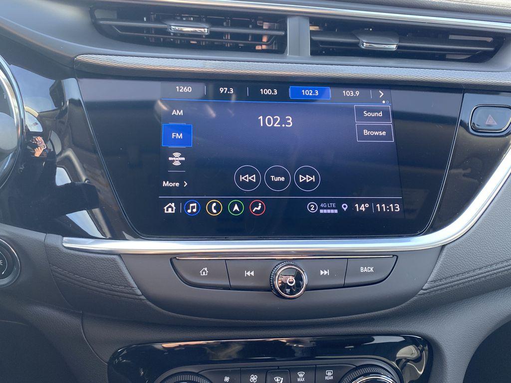 Gray[Satin Steel Metallic] 2022 Buick Encore GX Radio Controls Closeup Photo in Edmonton AB