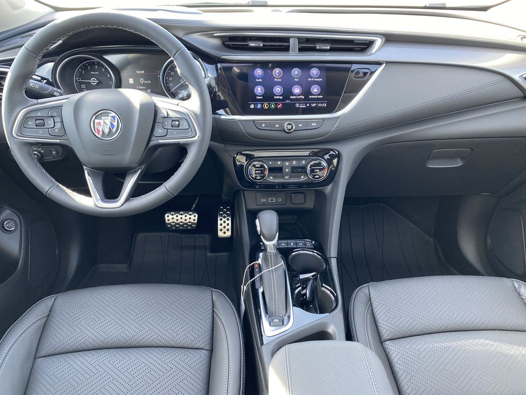 Gray[Satin Steel Metallic] 2022 Buick Encore GX Strng Wheel/Dash Photo: Frm Rear in Edmonton AB