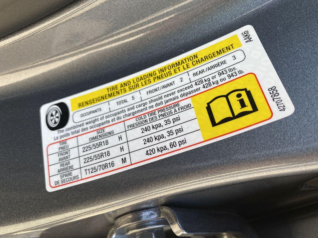 Gray[Satin Steel Metallic] 2022 Buick Encore GX DOT Label Photo in Edmonton AB