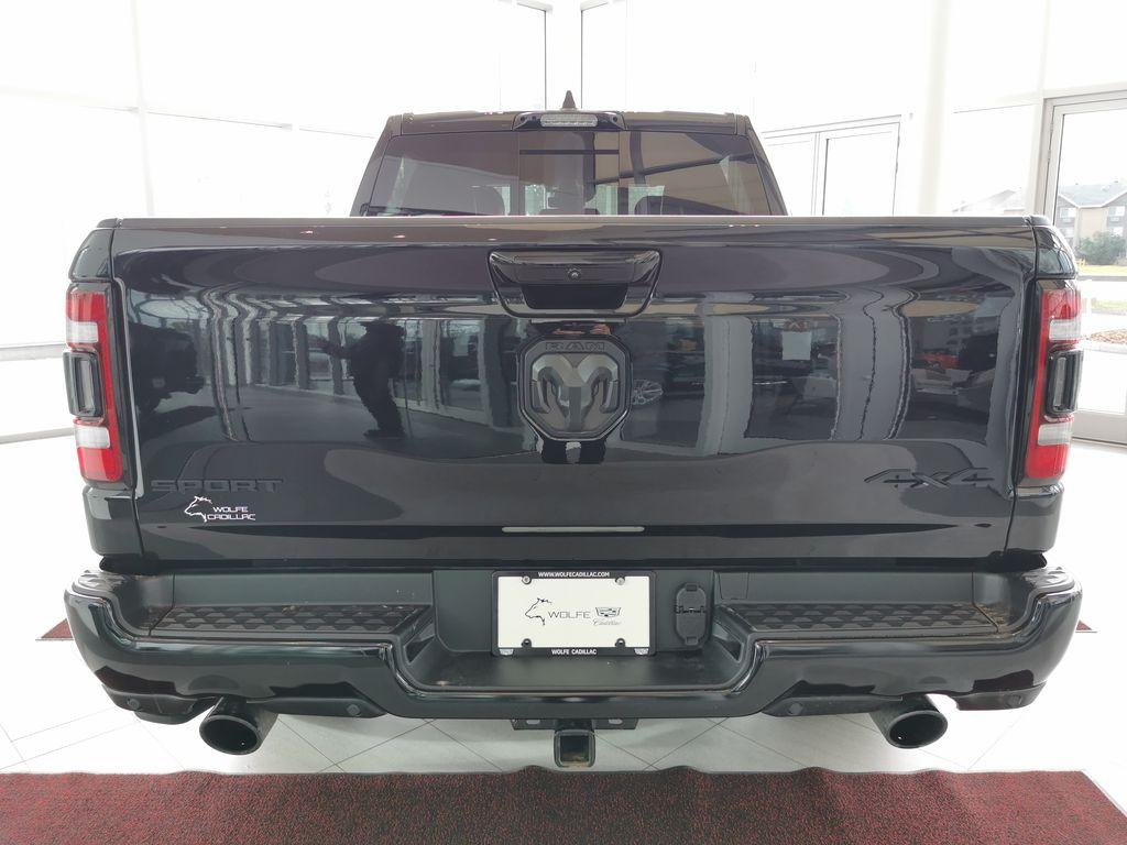 Black[Diamond Black Crystal Pearl] 2021 Ram 1500 Rear of Vehicle Photo in Edmonton AB