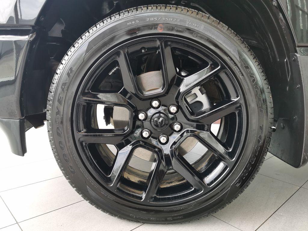 Black[Diamond Black Crystal Pearl] 2021 Ram 1500 Left Front Rim and Tire Photo in Edmonton AB