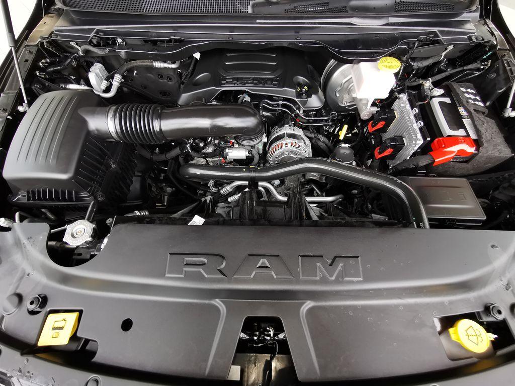 Black[Diamond Black Crystal Pearl] 2021 Ram 1500 Engine Compartment Photo in Edmonton AB