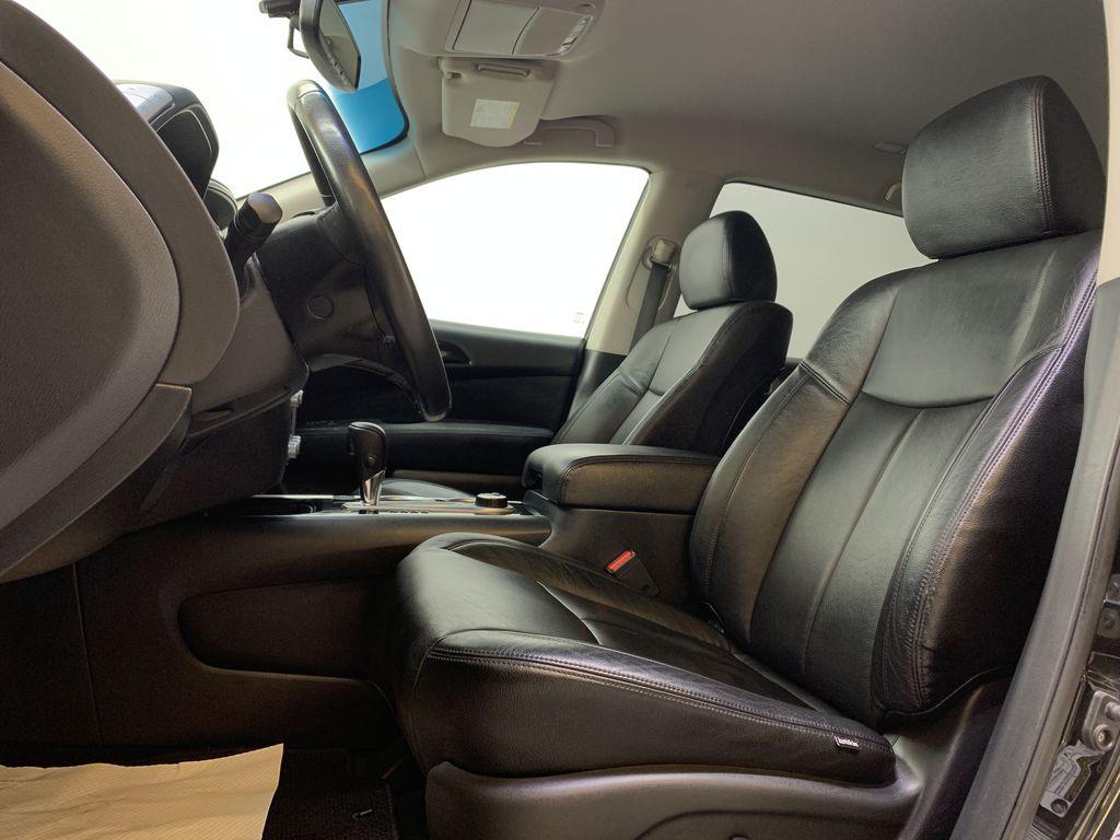 BLACK 2015 Nissan Pathfinder SV - Bluetooth, Remote Start, Backup Cam, 7 Seats, Leather, XM Left Front Interior Photo in Edmonton AB