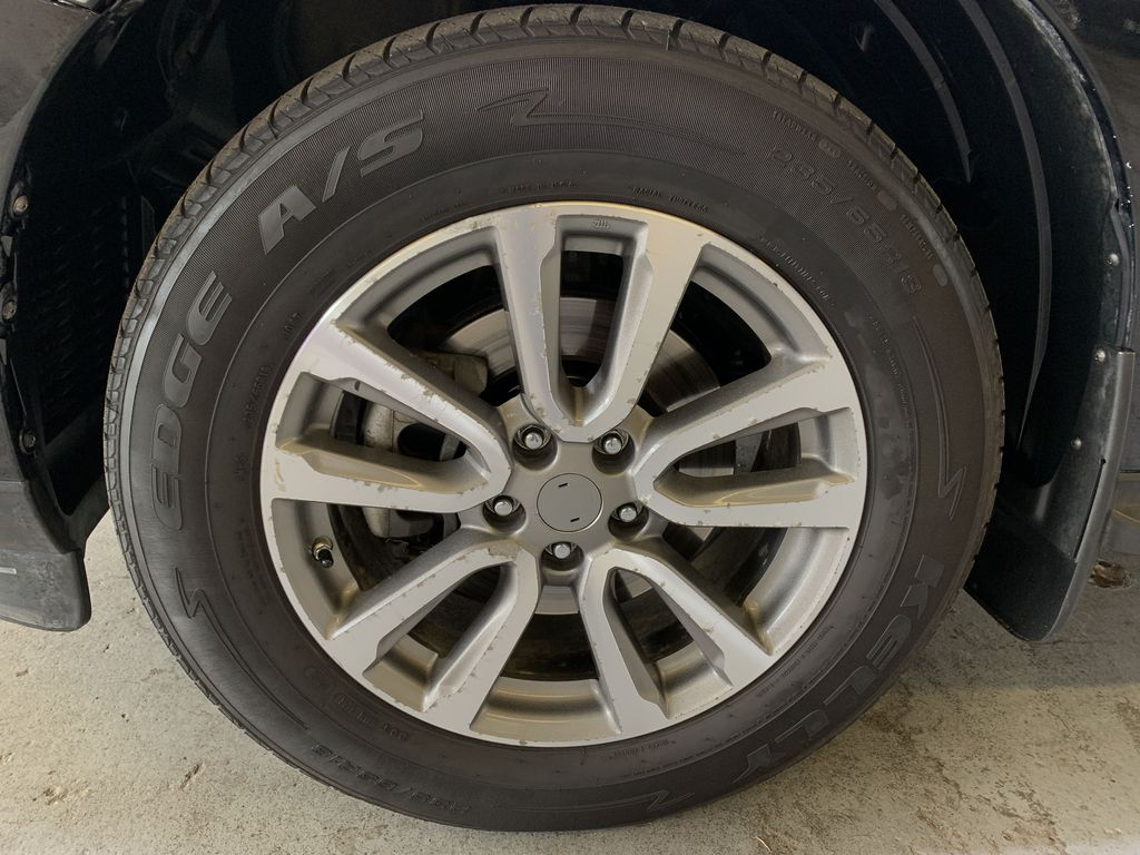 BLACK 2015 Nissan Pathfinder SV - Bluetooth, Remote Start, Backup Cam, 7 Seats, Leather, XM Left Front Rim and Tire Photo in Edmonton AB