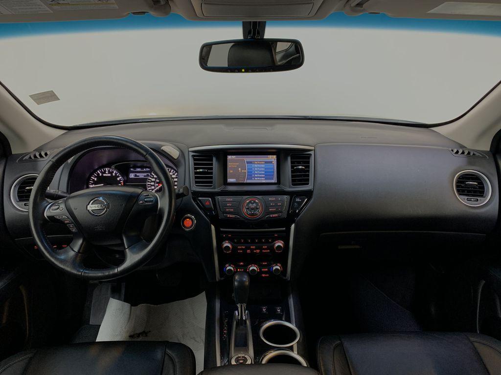 BLACK 2015 Nissan Pathfinder SV - Bluetooth, Remote Start, Backup Cam, 7 Seats, Leather, XM Strng Wheel/Dash Photo: Frm Rear in Edmonton AB