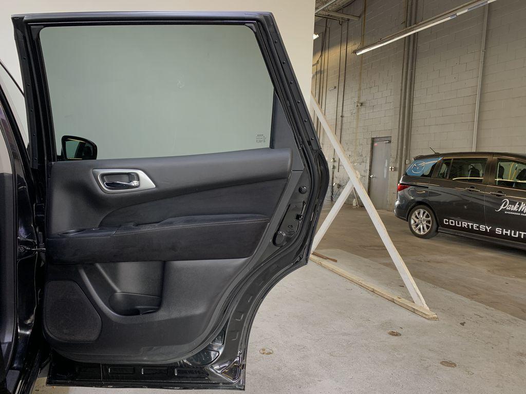 BLACK 2015 Nissan Pathfinder SV - Bluetooth, Remote Start, Backup Cam, 7 Seats, Leather, XM Right Rear Interior Door Panel Photo in Edmonton AB