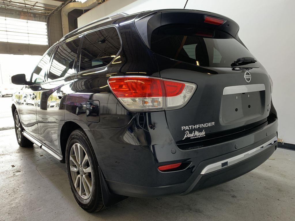 BLACK 2015 Nissan Pathfinder SV - Bluetooth, Remote Start, Backup Cam, 7 Seats, Leather, XM Left Rear Corner Photo in Edmonton AB