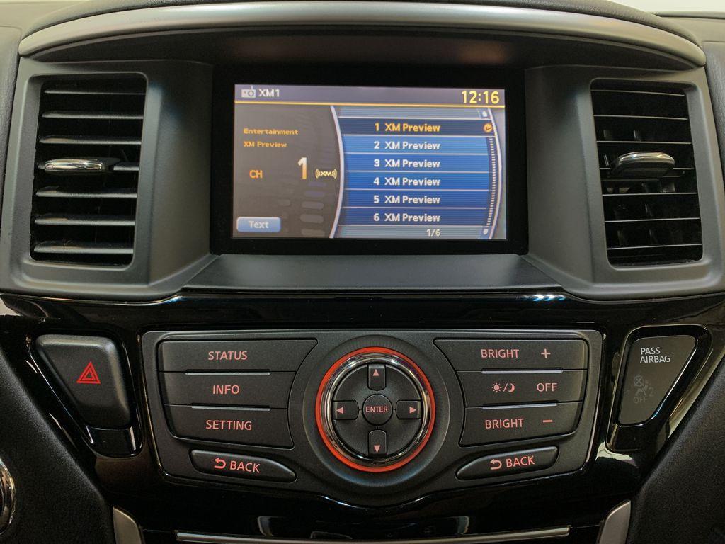 BLACK 2015 Nissan Pathfinder SV - Bluetooth, Remote Start, Backup Cam, 7 Seats, Leather, XM Radio Controls Closeup Photo in Edmonton AB