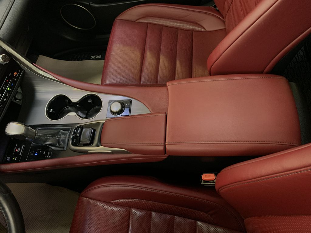WHITE 2017 Lexus RX 350 F-Sport - Bluetooth, NAV, Remote Start, Backup Cam, Leather, XM Center Console Photo in Edmonton AB