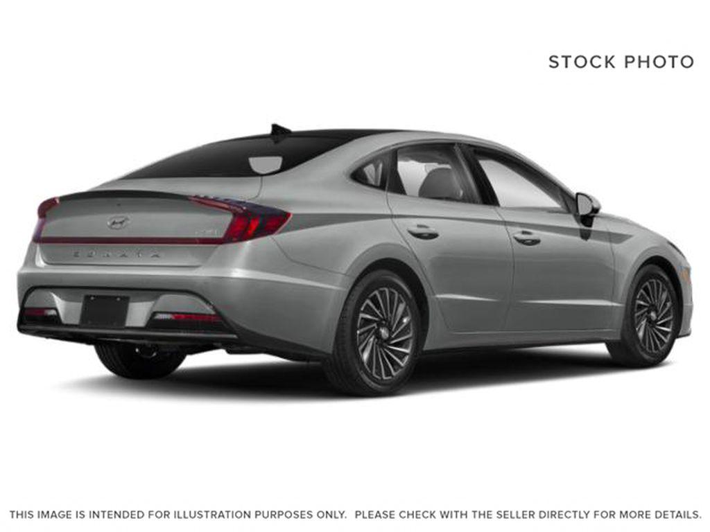 Silver[Shimmering Silver] 2022 Hyundai Sonata Hybrid Right Rear Corner Photo in Ottawa ON