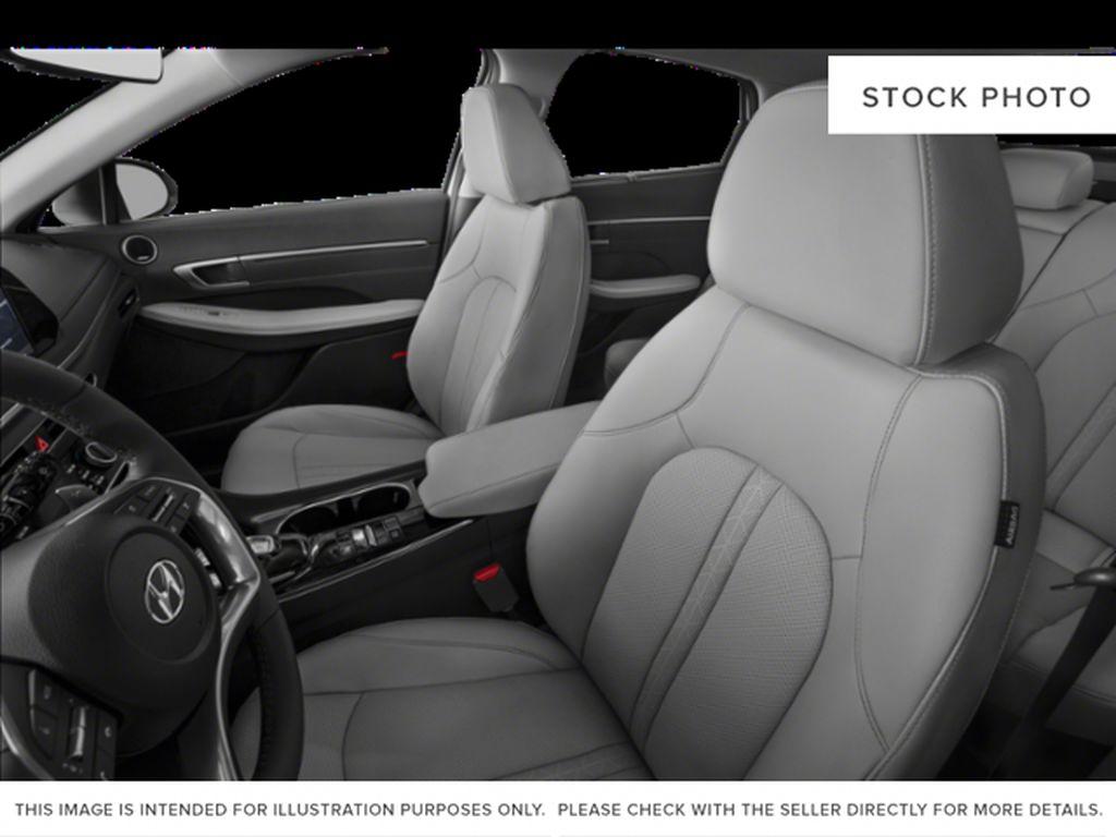 Silver[Shimmering Silver] 2022 Hyundai Sonata Hybrid Left Front Interior Photo in Ottawa ON