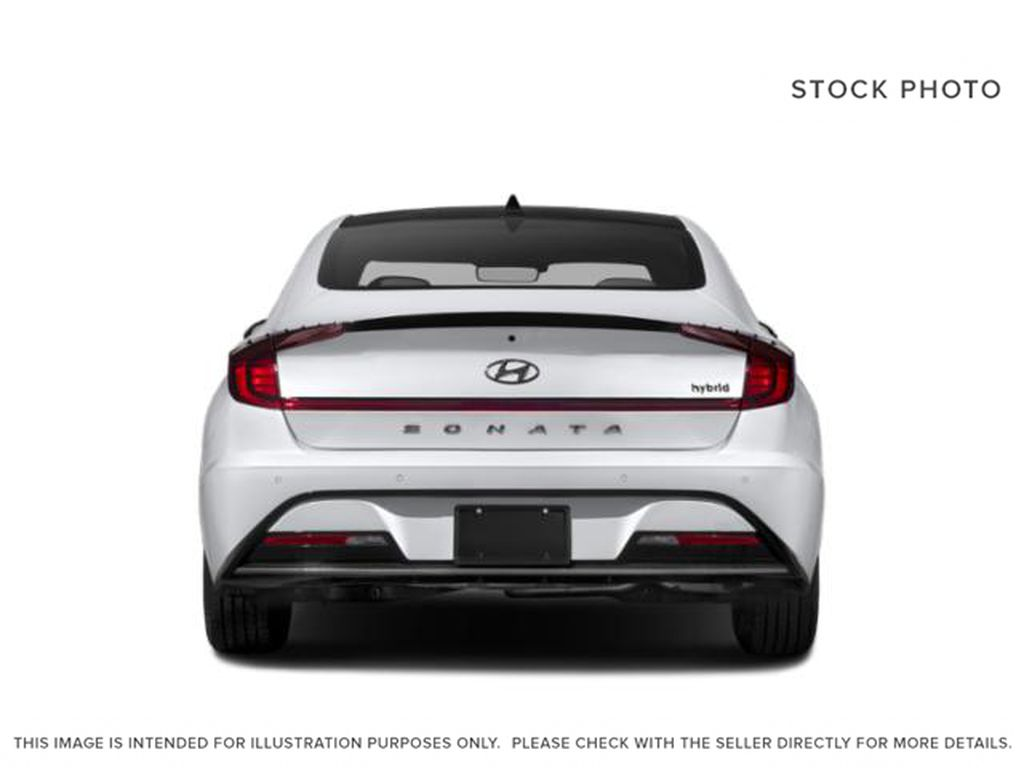 Silver[Shimmering Silver] 2022 Hyundai Sonata Hybrid Rear of Vehicle Photo in Ottawa ON