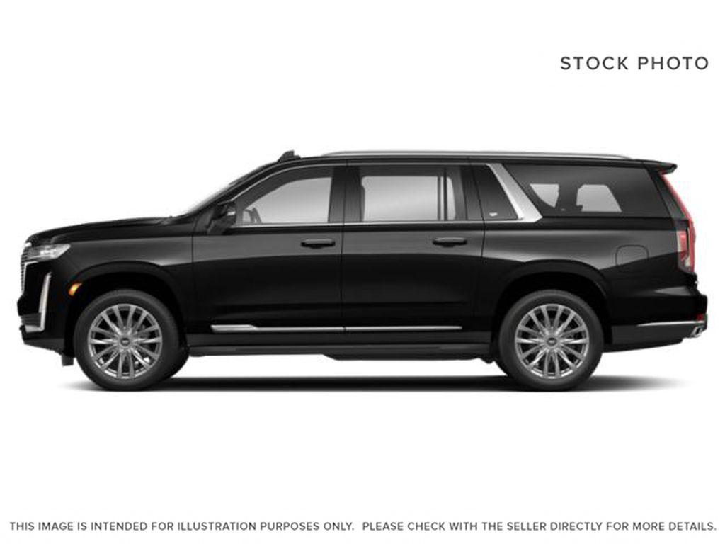 Black[Black Raven] 2021 Cadillac Escalade ESV Sport Platinum Left Side Photo in Calgary AB