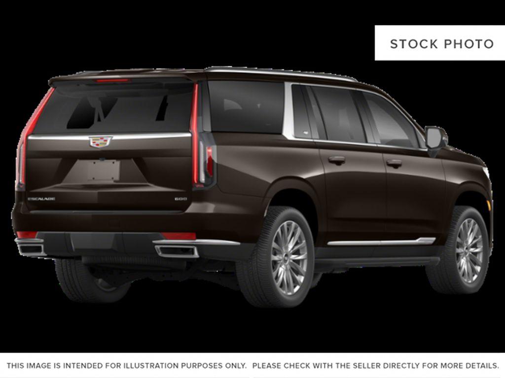 Black[Black Raven] 2021 Cadillac Escalade ESV Sport Platinum Right Rear Corner Photo in Calgary AB