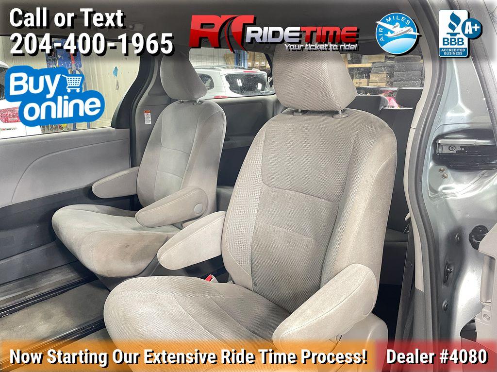 Gray[Pre-Dawn Grey Mica] 2015 Toyota Sienna Base - 7 Passenger Left Side Rear Seat  Photo in Winnipeg MB