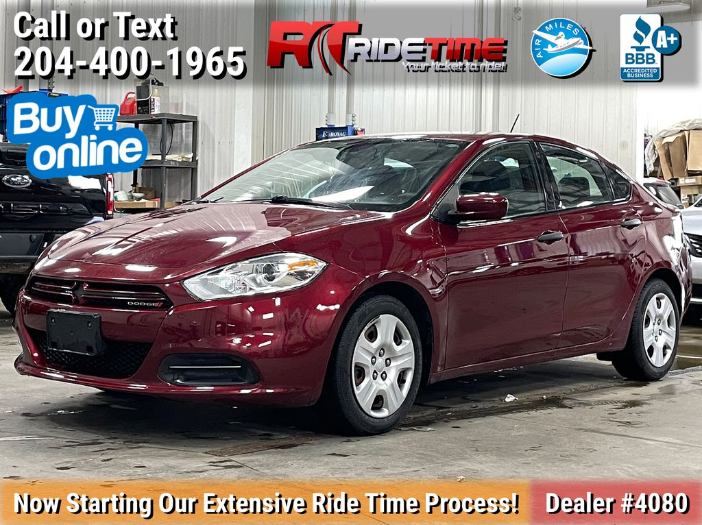 Red[Passion Red Pearl] 2015 Dodge Dart SE - Automatic, Bluetooth, LOW KMs