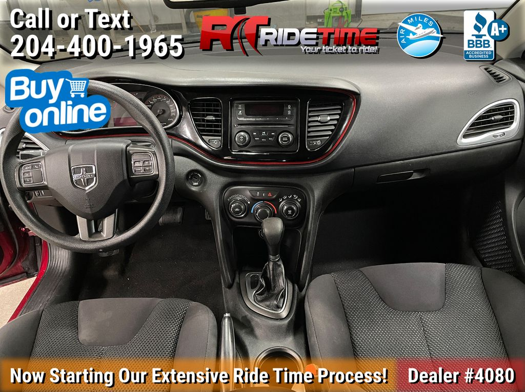 Red[Passion Red Pearl] 2015 Dodge Dart SE - Automatic, Bluetooth, LOW KMs Central Dash Options Photo in Winnipeg MB
