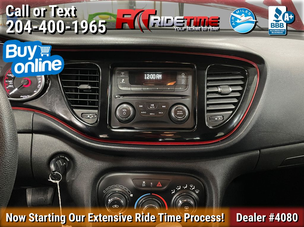 Red[Passion Red Pearl] 2015 Dodge Dart SE - Automatic, Bluetooth, LOW KMs Additional Photo 1 in Winnipeg MB