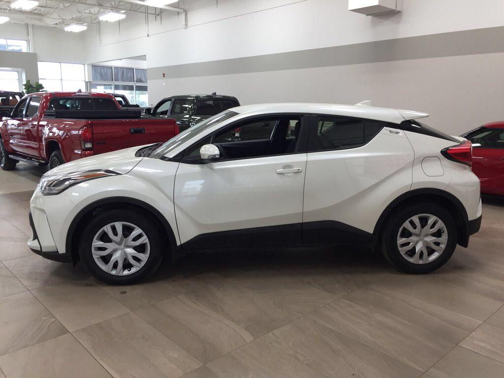 White[Blizzard Pearl] 2021 Toyota C-HR LE Left Side Photo in Sherwood Park AB