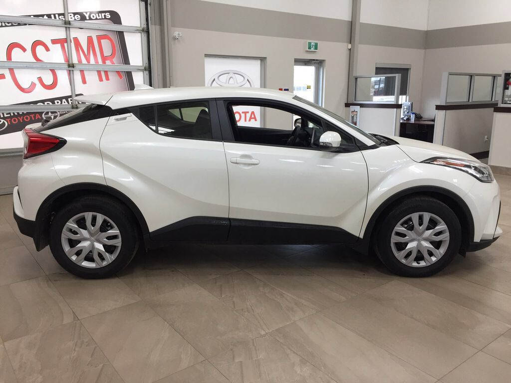 White[Blizzard Pearl] 2021 Toyota C-HR LE Right Side Photo in Sherwood Park AB