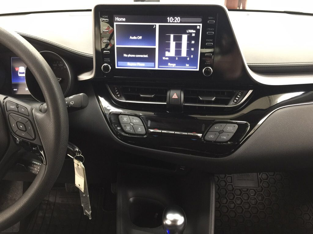 White[Blizzard Pearl] 2021 Toyota C-HR LE Central Dash Options Photo in Sherwood Park AB
