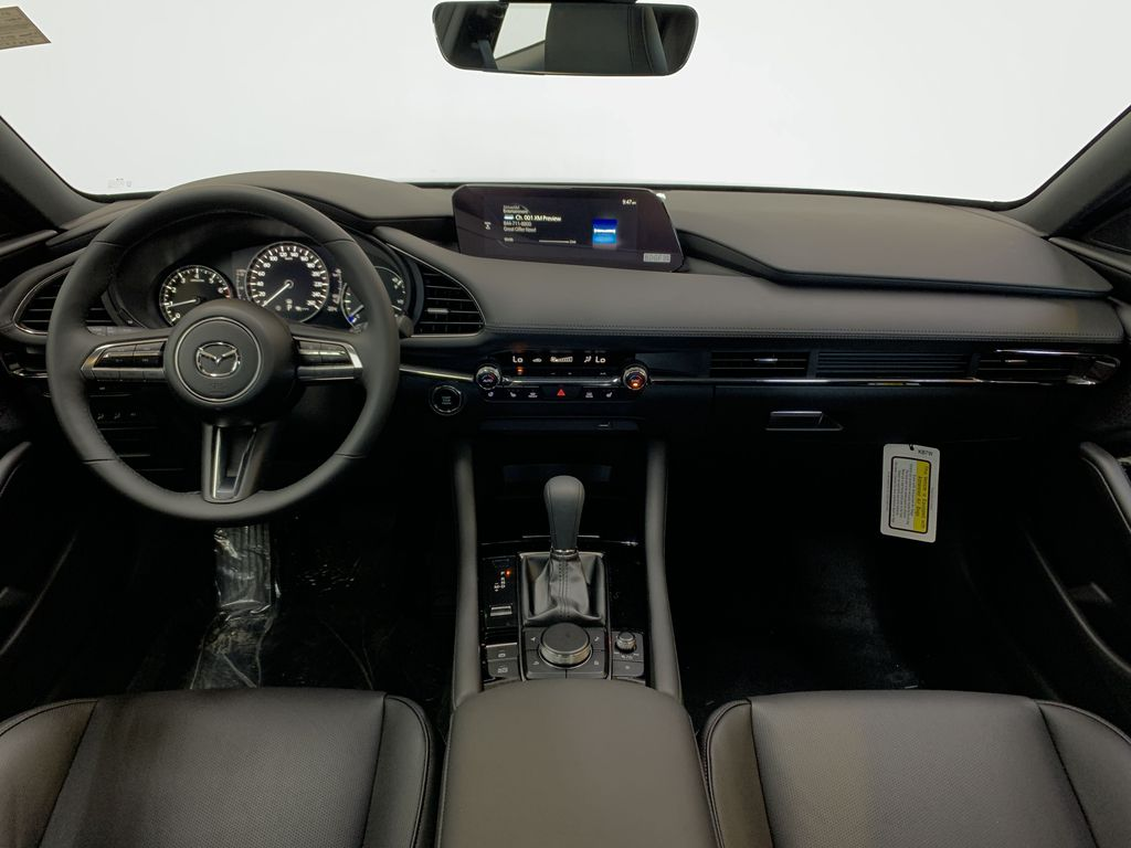 POLYMETAL GREY METALLIC(47C) 2021 Mazda Mazda3 Sport GT Turbo Premium AWD Strng Wheel/Dash Photo: Frm Rear in Edmonton AB